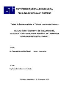 Manual De Procedimiento De Reclutamiento Seleccion Y Contratacion